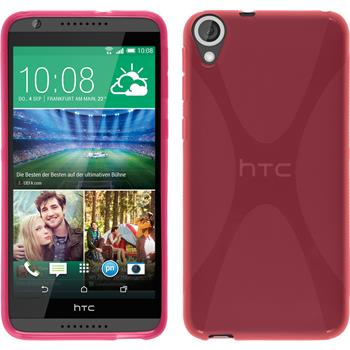 Silicone Case for HTC Desire 820 X-Style hot pink