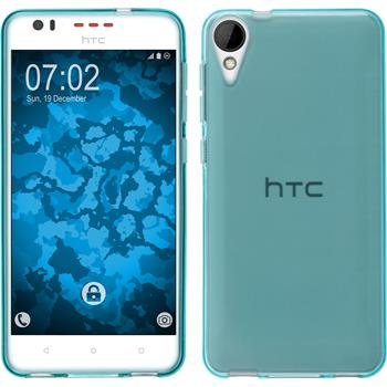 Silicone Case for HTC Desire 825 crystal-case light blue