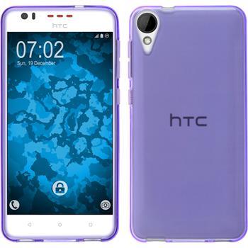 Silicone Case for HTC Desire 825 crystal-case purple