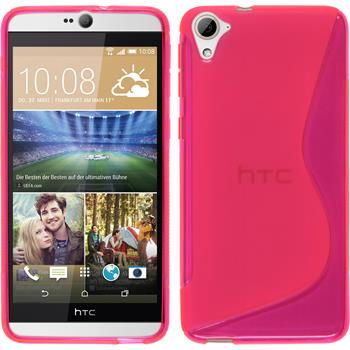 Silicone Case for HTC Desire 826 S-Style hot pink