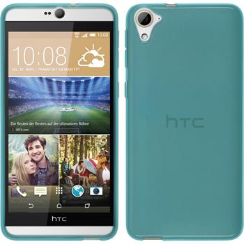 Silicone Case for HTC Desire 826 transparent turquoise