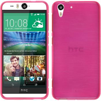 Silicone Case for HTC Desire Eye brushed hot pink