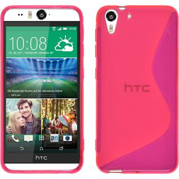 Silicone Case for HTC Desire Eye S-Style hot pink