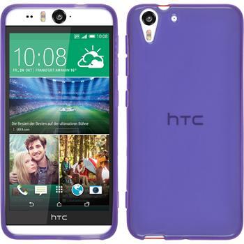 Silicone Case for HTC Desire Eye transparent purple