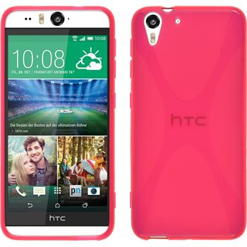 Silicone Case for HTC Desire Eye X-Style hot pink