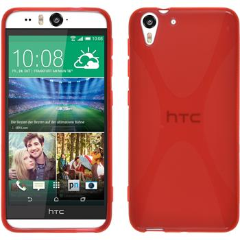 Silicone Case for HTC Desire Eye X-Style red