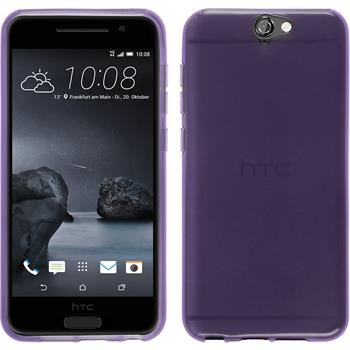 Silicone Case for HTC One A9 transparent purple