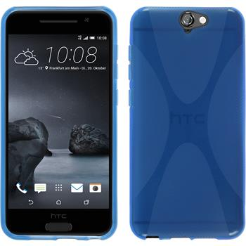 Silicone Case for HTC One A9 X-Style blue