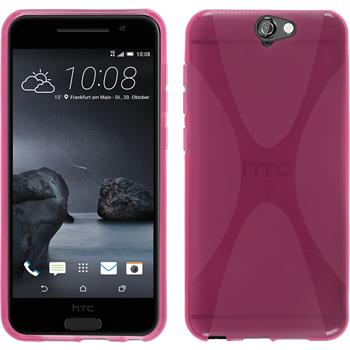 Silicone Case for HTC One A9 X-Style hot pink