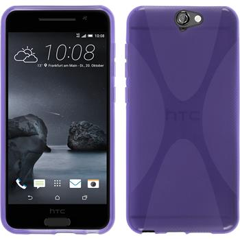 Silicone Case for HTC One A9 X-Style purple