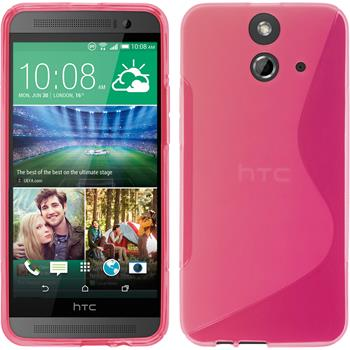 Silicone Case for HTC One E8 S-Style hot pink