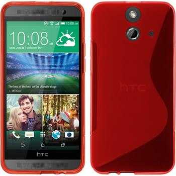Silicone Case for HTC One E8 S-Style red