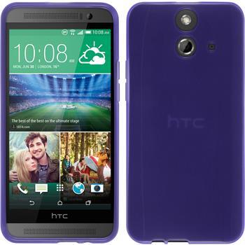Silicone Case for HTC One E8 transparent purple