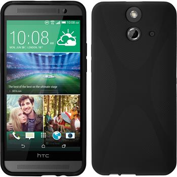 Silicone Case for HTC One E8 X-Style black