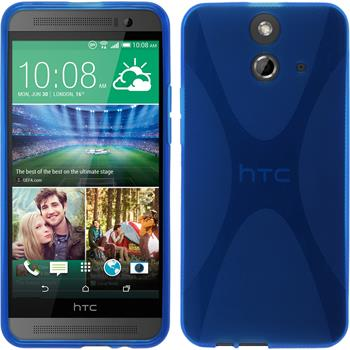 Silicone Case for HTC One E8 X-Style blue