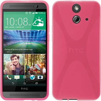 Silicone Case for HTC One E8 X-Style hot pink