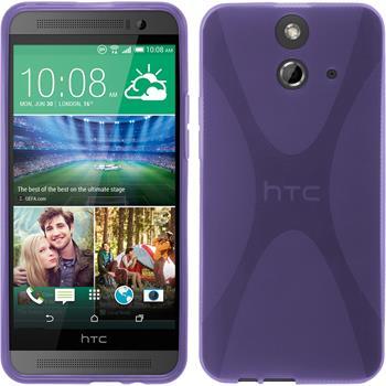 Silicone Case for HTC One E8 X-Style purple