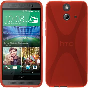 Silicone Case for HTC One E8 X-Style red