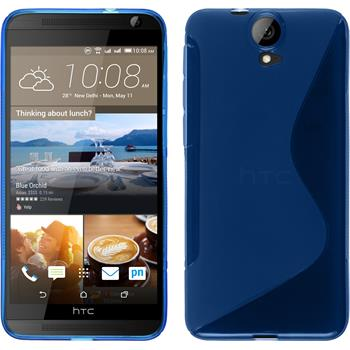Silicone Case for HTC One E9+ S-Style blue