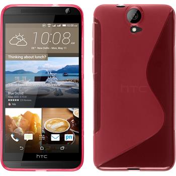 Silicone Case for HTC One E9+ S-Style hot pink