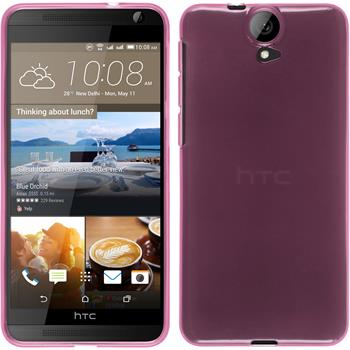 Silicone Case for HTC One E9+ transparent pink