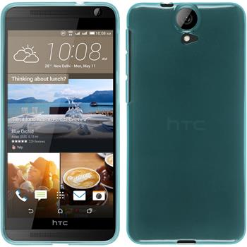 Silicone Case for HTC One E9+ transparent turquoise