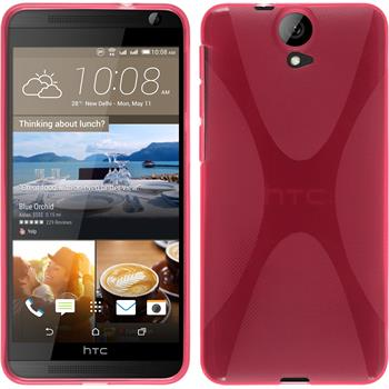 Silicone Case for HTC One E9+ X-Style hot pink