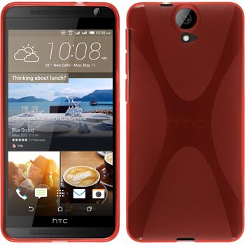 Silicone Case for HTC One E9+ X-Style red
