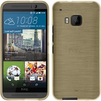 Silicone Case for HTC One M9 brushed gold