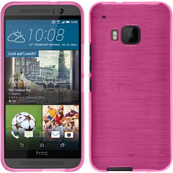 Silicone Case for HTC One M9 brushed hot pink