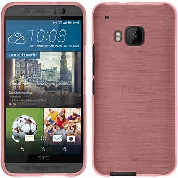 Silicone Case for HTC One M9 brushed pink