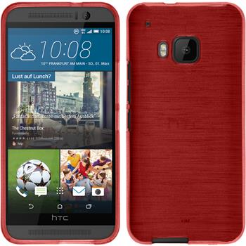 Silicone Case for HTC One M9 brushed red