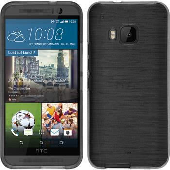Silicone Case for HTC One M9 brushed silver