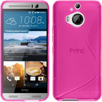 Silicone Case for HTC One M9 Plus S-Style hot pink