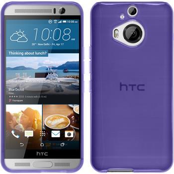 Silicone Case for HTC One M9 Plus transparent purple