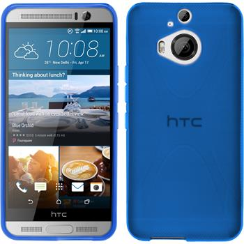 Silicone Case for HTC One M9 Plus X-Style blue