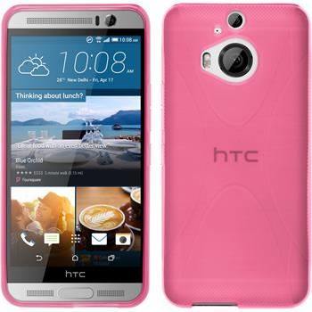 Silicone Case for HTC One M9 Plus X-Style hot pink