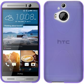 Silicone Case for HTC One M9 Plus X-Style purple