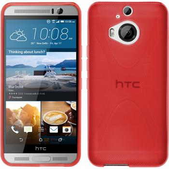 Silicone Case for HTC One M9 Plus X-Style red