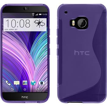 Silicone Case for HTC One M9 S-Style purple