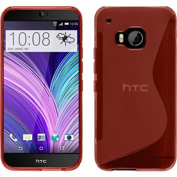Silicone Case for HTC One M9 S-Style red