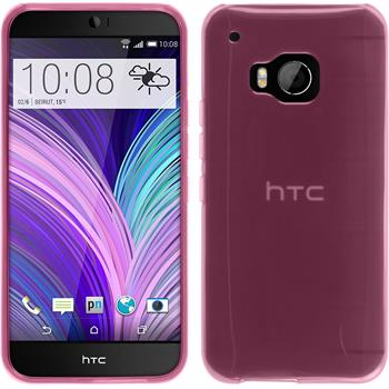 Silicone Case for HTC One M9 transparent pink