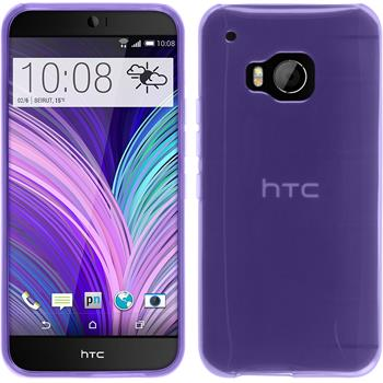 Silicone Case for HTC One M9 transparent purple