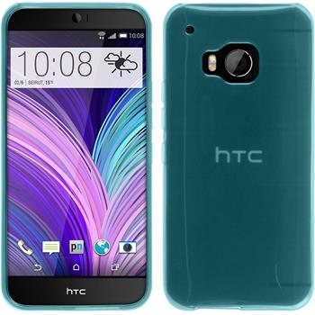 Silicone Case for HTC One M9 transparent turquoise