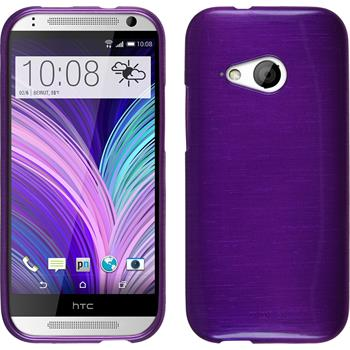Silicone Case for HTC One Mini 2 brushed purple