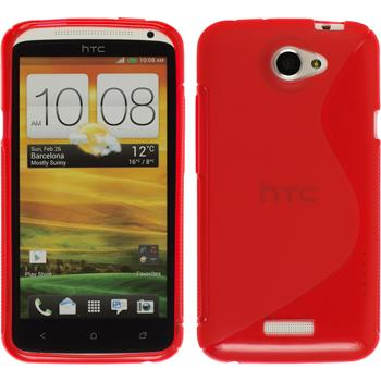 Silicone Case for HTC One X S-Style red