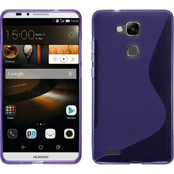 Silicone Case for Huawei Ascend Mate 7 S-Style purple