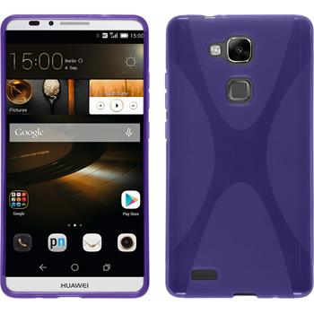 Silicone Case for Huawei Ascend Mate 7 X-Style purple