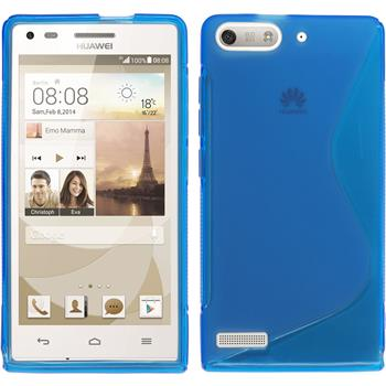 Silicone Case for Huawei Ascend P7 Mini S-Style blue