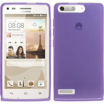 Silicone Case for Huawei Ascend P7 Mini transparent purple